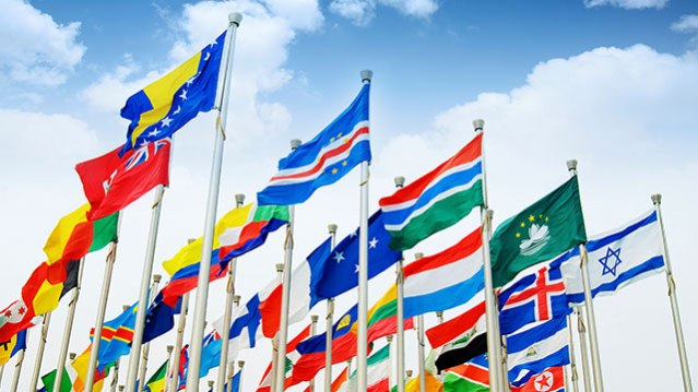international-business-management flags